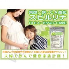 Algae Спирулина с фолиевой кислотой, Омега, железом и витамином С 1200 таб