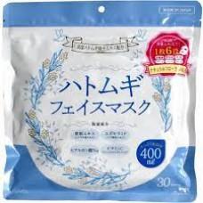 Маска тканевая для лица с экстрактом коикса, гиалуроновой кислотой и экстр. юдзу 30 шт. (Hatomugi)