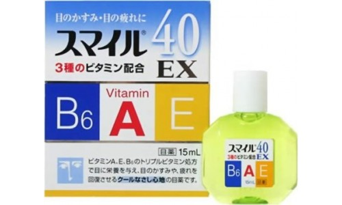 Lion Smile 40 EX Cool, Японские Витаминизированные капли для глаз