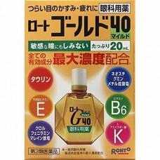 Rohto Gold 40 mild - Японские глазные капли c Хондроитином